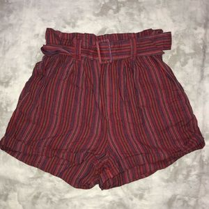 Urban Outfitters Belted Striped Tribal Shorts